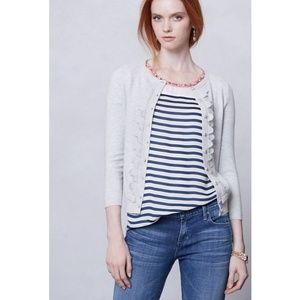 Anthropologie Sparrow Shoreline Scallop Cardigan L